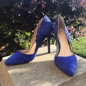 Jessica Simpson Royal Blue Accented Heels